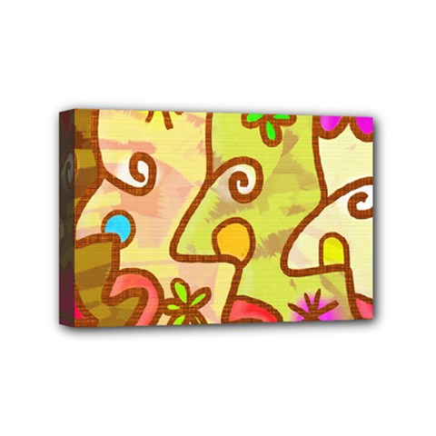 Abstract Faces Abstract Spiral Mini Canvas 6  X 4  by Amaryn4rt