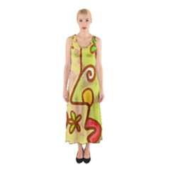 Abstract Faces Abstract Spiral Sleeveless Maxi Dress by Amaryn4rt