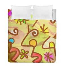 Abstract Faces Abstract Spiral Duvet Cover Double Side (full/ Double Size)