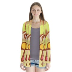 Abstract Faces Abstract Spiral Cardigans