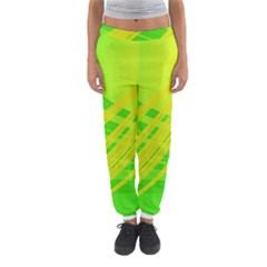 Abstract Green Yellow Background Women s Jogger Sweatpants by Amaryn4rt