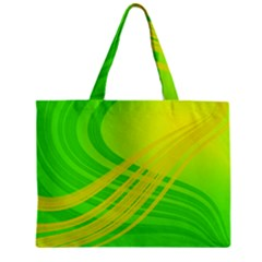 Abstract Green Yellow Background Zipper Mini Tote Bag by Amaryn4rt