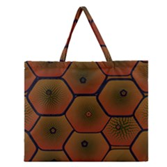 Art Psychedelic Pattern Zipper Large Tote Bag by Amaryn4rt