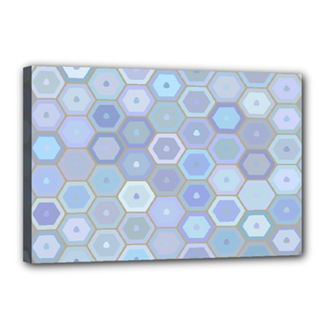 Bee Hive Background Canvas 18  X 12  by Amaryn4rt