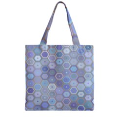 Bee Hive Background Grocery Tote Bag by Amaryn4rt