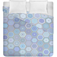 Bee Hive Background Duvet Cover Double Side (king Size) by Amaryn4rt
