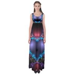Blue Heart Empire Waist Maxi Dress
