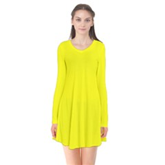 Yellow Color Flare Dress