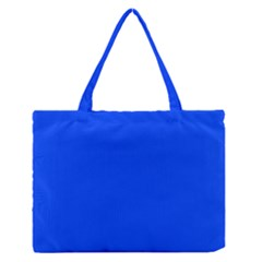 Blue Color Medium Zipper Tote Bag by Jojostore