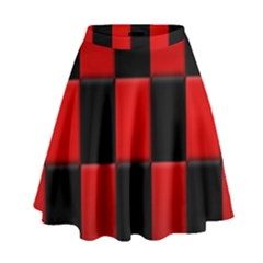 Board Red Black High Waist Skirt by Jojostore
