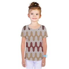 Bullard Line Fabric Chevron Wave Kids  One Piece Tee by Jojostore