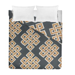 Geometric Cut Velvet Drapery Upholstery Fabric Duvet Cover Double Side (full/ Double Size) by Jojostore