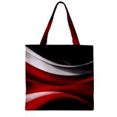Lines Red Zipper Grocery Tote Bag by Jojostore