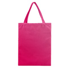 Pink Color Classic Tote Bag by Jojostore