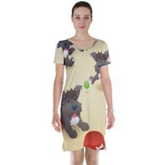 Puppy Dog Short Sleeve Nightdress by Jojostore