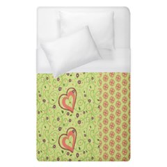 Organic Geometric Design Love Flower Duvet Cover (Single Size) by Jojostore