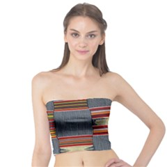 Strip Woven Cloth Tube Top by Jojostore
