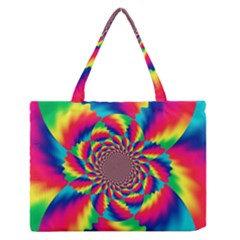 Colorful Psychedelic Art Background Medium Zipper Tote Bag by Amaryn4rt