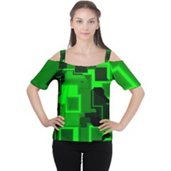 Cyber Glow Women s Cutout Shoulder Tee