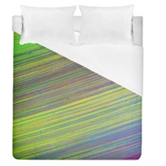 Diagonal Lines Abstract Duvet Cover (queen Size) by Amaryn4rt