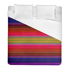 Fiesta Stripe Colorful Neon Background Duvet Cover (full/ Double Size) by Amaryn4rt