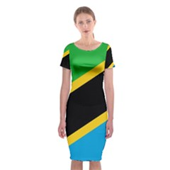 Flag Of Tanzania Classic Short Sleeve Midi Dress by Amaryn4rt