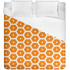 Golden Be Hive Pattern Duvet Cover (king Size) by Amaryn4rt