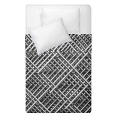 Grid Wire Mesh Stainless Rods Rods Raster Duvet Cover Double Side (single Size) by Amaryn4rt
