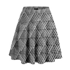 Grid Wire Mesh Stainless Rods Rods Raster High Waist Skirt by Amaryn4rt