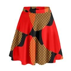 Heart Pattern High Waist Skirt by Amaryn4rt