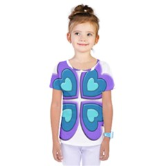 Light Blue Heart Images Kids  One Piece Tee by Amaryn4rt