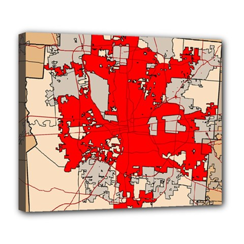 Map Of Franklin County Ohio Highlighting Columbus Deluxe Canvas 24  X 20