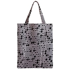 Metal Background Round Holes Zipper Classic Tote Bag by Amaryn4rt