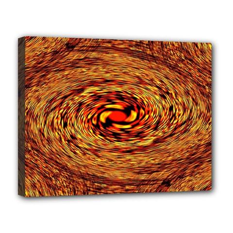 Orange Seamless Psychedelic Pattern Canvas 14  X 11  by Amaryn4rt