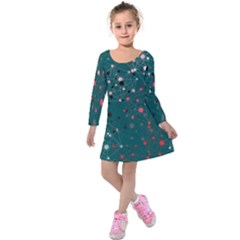 Pattern Seekers The Good The Bad And The Ugly Kids  Long Sleeve Velvet Dress by Amaryn4rt