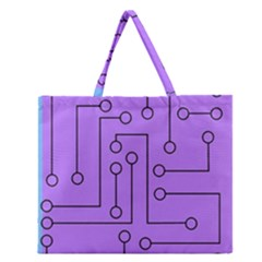 Peripherals Zipper Large Tote Bag by Amaryn4rt