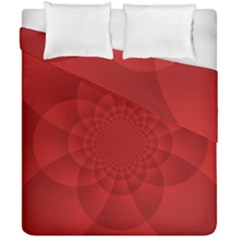 Psychedelic Art Red  Hi Tech Duvet Cover Double Side (california King Size)