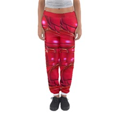 Red Abstract Cherry Balls Pattern Women s Jogger Sweatpants by Amaryn4rt