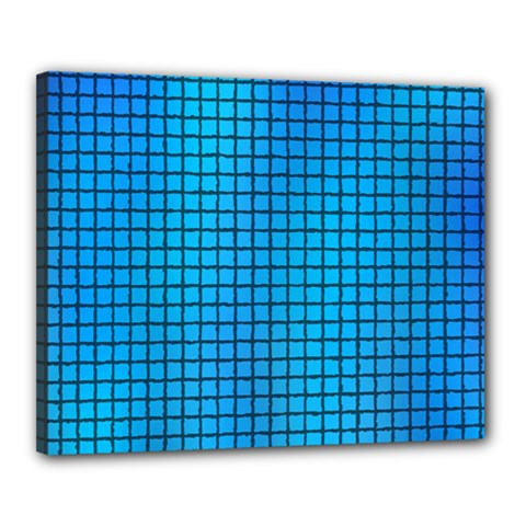 Seamless Blue Tiles Pattern Canvas 20  X 16  by Amaryn4rt