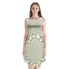 Tech Neon And Glow Backgrounds Psychedelic Art Psychedelic Art Sleeveless Chiffon Dress   by Amaryn4rt