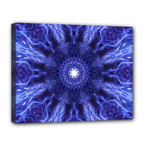 Tech Neon And Glow Backgrounds Psychedelic Art Canvas 14  X 11  by Amaryn4rt