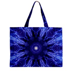 Tech Neon And Glow Backgrounds Psychedelic Art Zipper Mini Tote Bag by Amaryn4rt