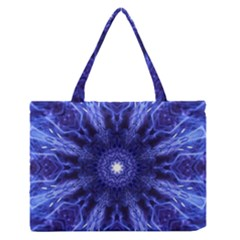 Tech Neon And Glow Backgrounds Psychedelic Art Medium Zipper Tote Bag by Amaryn4rt