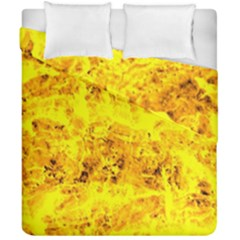 Yellow Abstract Background Duvet Cover Double Side (california King Size)