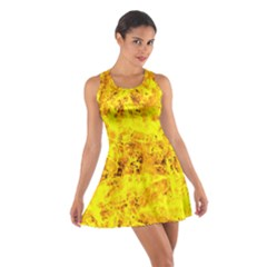 Yellow Abstract Background Cotton Racerback Dress