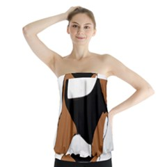 Beagle Silhouette Black Red White Strapless Top by TailWags