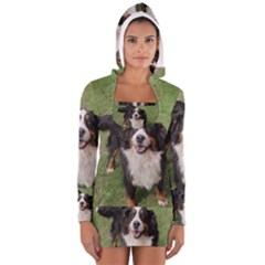 Bernese Mountain Dog Full Women s Long Sleeve Hooded T-shirt by TailWags