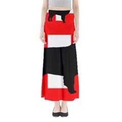 Bernese Mt Dog Silhouette Switzerland Flag Maxi Skirts