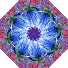 Blue Flowers With Thorns Golf Umbrellas by Onesevenart