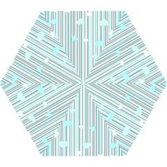 Cyan Love Mini Folding Umbrellas by Valentinaart